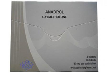 Anadrol (Euro Genetics) Анадрол - 96 таблетки по 10мг.