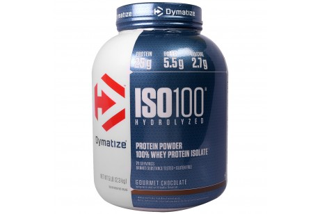 Dymatize Nutrition ISO 100 Hydrolyzed Whey Protein Isolate Gourmet Chocolate 5 Lbs 2.3 kg